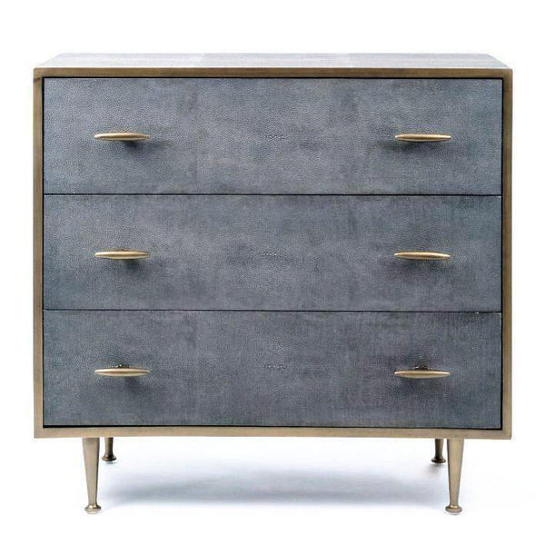 buy online 392e4 4bbc4 Azure Luxury Chest of Drawers Faux Shagreen