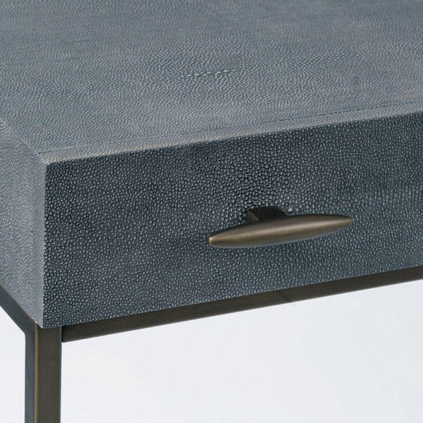 Azure Luxury | Console Table | Faux Shagreen, Console Table - Hickory Furniture