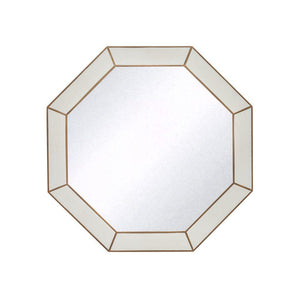 Azure Luxury | Octagon Mirror Ivory | Faux Shagreen, Wall Mirror - Hickory Furniture