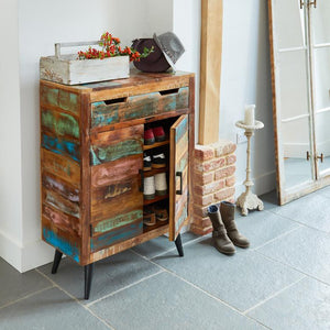 Coastal Chic Shoe Cupboard, Shoe Storage - Hickory Furniture