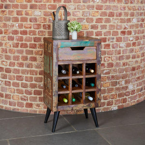 Coastal Chic Wine Rack Lamp Table, Wine Rack - Hickory Furniture