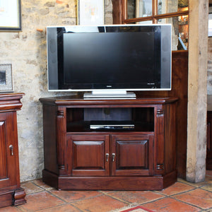 La Roque Corner Television Cabinet - Tv Media Unit Free Shipping Baumhaus Hickory Furniture Co.