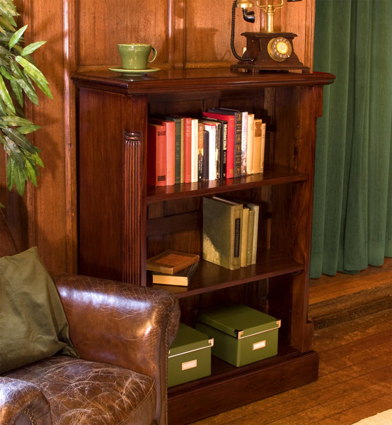 La Roque Low Open Bookcase - Bookcase Free Shipping Baumhaus Hickory Furniture Co.