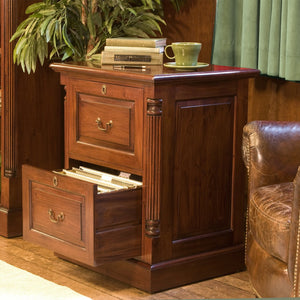 La Roque Two Drawer Filing Cabinet - Filing Cabinet Free Shipping Baumhaus Hickory Furniture Co.