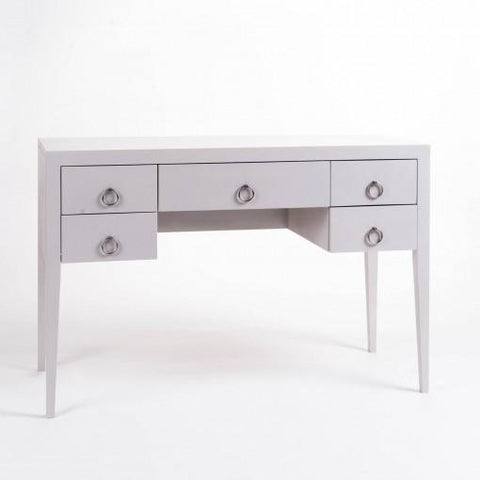 Savoy | Small Desk | Grey-Writing Desk-Hickory Furniture Co.-Hickory Furniture Co.