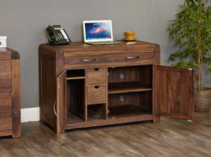 Shiro Walnut Hidden Home Office - Office Desk Free Shipping Baumhaus Hickory Furniture Co.
