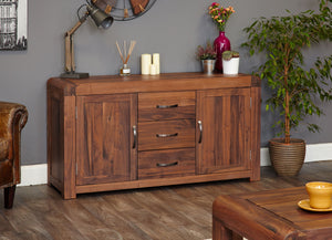 Shiro Walnut Large Sideboard - Play Table Free Shipping Baumhaus Hickory Furniture Co.