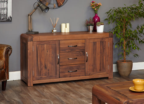 Shiro Walnut Large Sideboard-Play Table-Baumhaus-Hickory Furniture Co.
