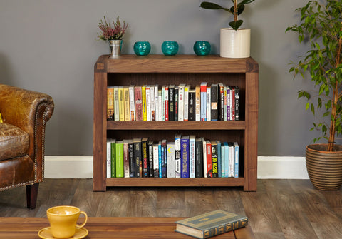 Shiro Walnut Low Bookcase - Childs Chair Free Shipping Baumhaus Hickory Furniture Co.