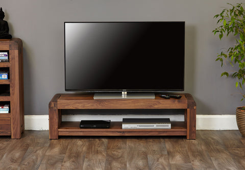Shiro Walnut Low TV Cabinet-TV Media Unit-Baumhaus-Hickory Furniture Co.