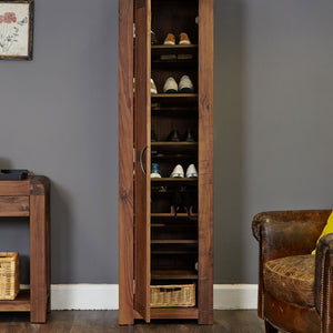 Shiro Walnut Tall Shoe Cupboard - Shoe Cupboard Free Shipping Baumhaus Hickory Furniture Co.