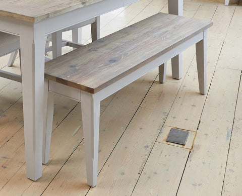 Signature Grey 130cm Dining Bench-Dining Bench-Baumhaus-Hickory Furniture Co.