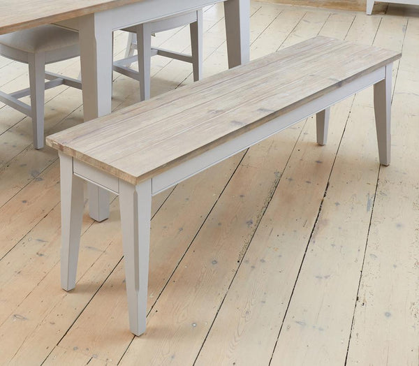 Signature Grey 150Cm Dining Bench - Dining Bench Free Shipping Baumhaus Hickory Furniture Co.