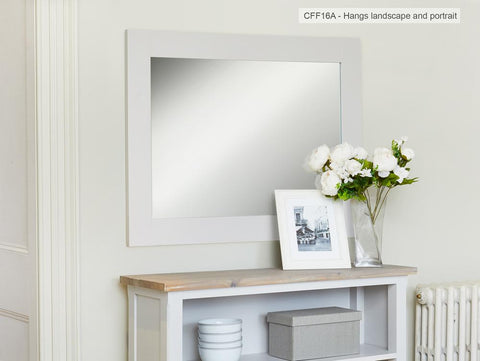 Signature Grey Overmantle Mirror - Mirror Free Shipping Baumhaus Hickory Furniture Co.
