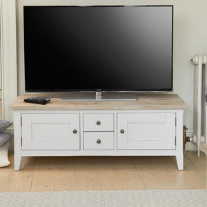 Signature Grey Widescreen Television Stand - Tv Media Unit / Stand Free Shipping Baumhaus Hickory Furniture Co.