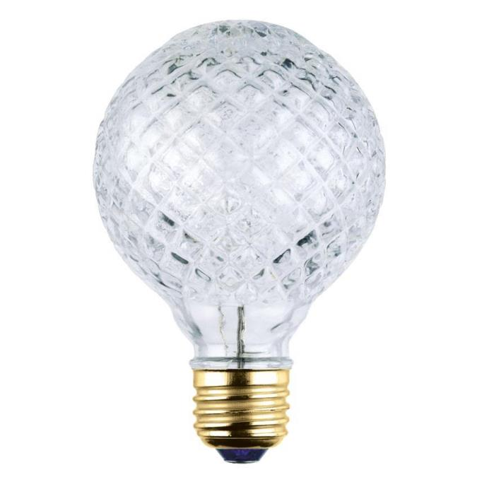 40 Watt G25 Eco-Halogen Cut Glass Light Bulb
