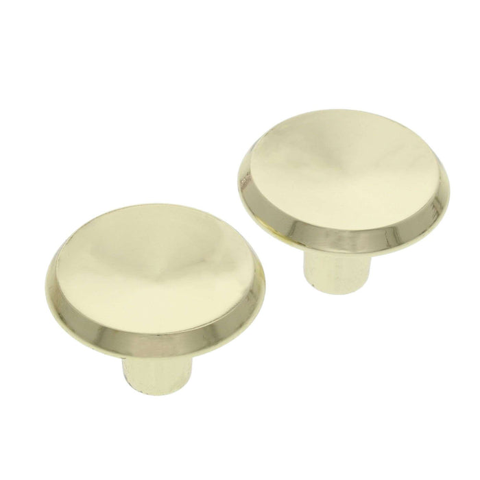 Cabinet Knobs Brass Plated 2PK