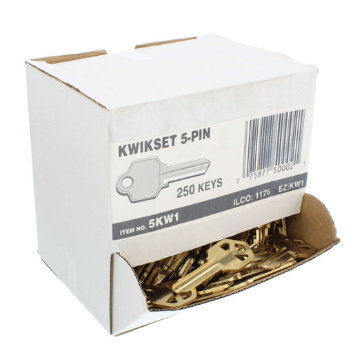 Kwikset 5-Pin Key Blanks Box of 250