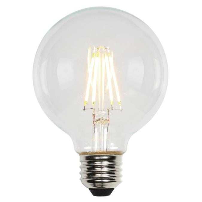 6-1/2 Watt (60 Watt Equivalent) G25 Dimmable Filament LED Light Bulb
