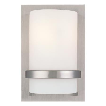 1 Light Wall Sconce Brushed Nickel