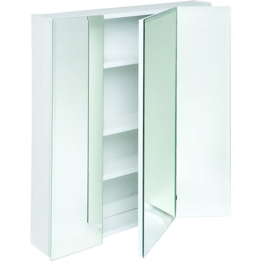 24 in Frameless Beveled Tri-View Medicine Cabinet