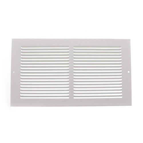 Baseboard Return Air Grilles, White 12 x 6""