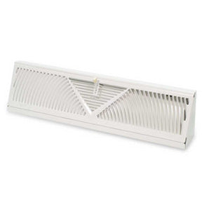 "18"" long, Baseboard Diffuser, White"