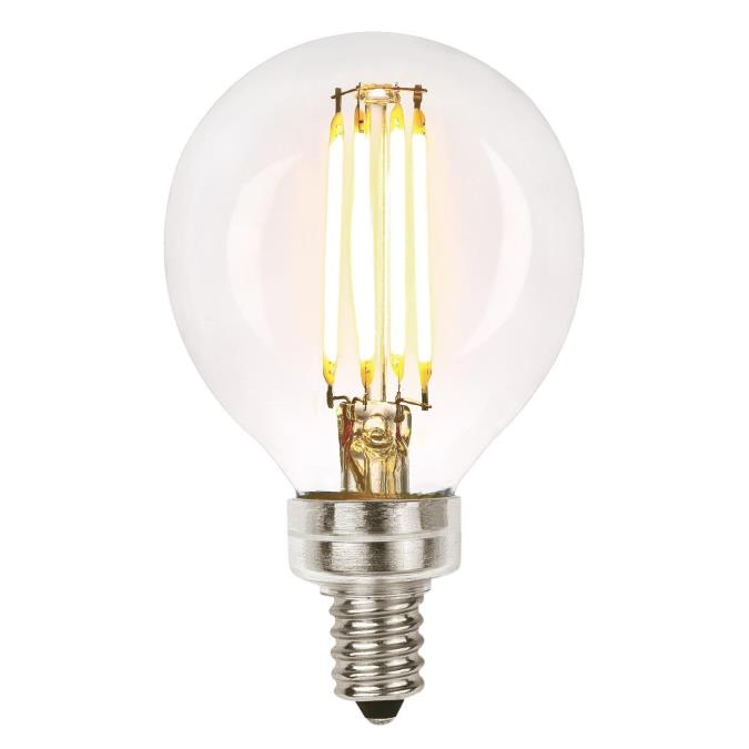 4-1/2 Watt (40 Watt Equivalent) G16-1/2 Dimmable Filament LED Light Bulb
