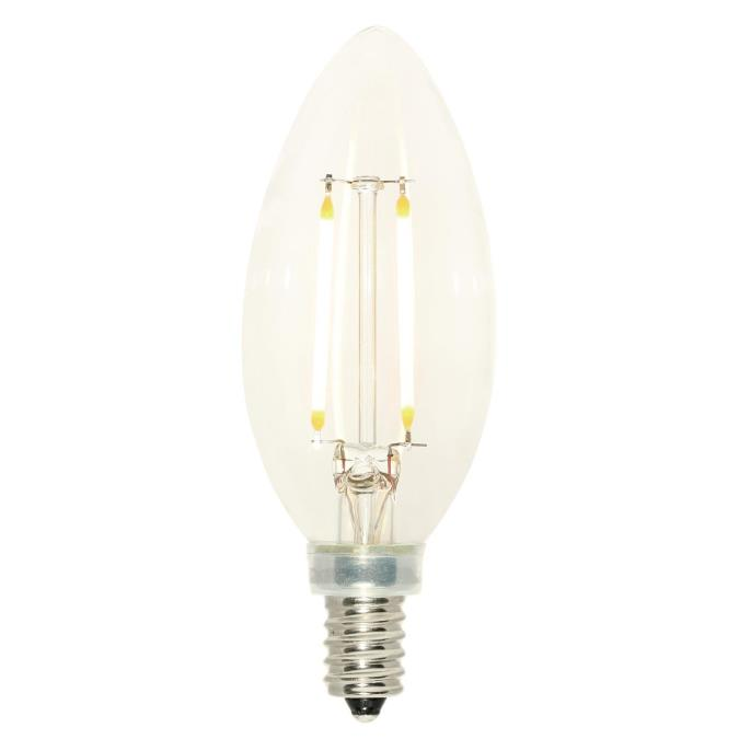 2.5 Watt (25 Watt Equivalent) B11 Dimmable Filament LED Light Bulb