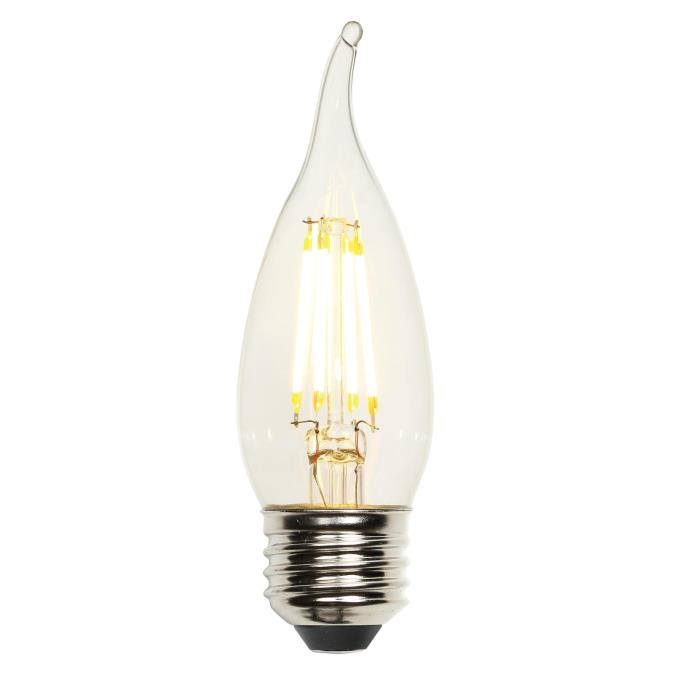4-1/2 Watt (40 Watt Equivalent) CA10 Dimmable Filament LED Light Bulb