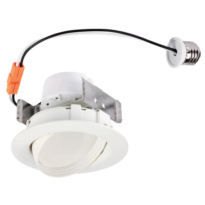 10 Watt (65 Watt Equivalent) 4-Inch Dimmable Sloped Recessed LED Downlight ENERGY STAR