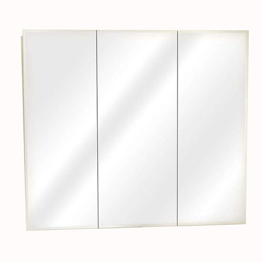 48 in Frameless Beveled Tri-View Medicine Cabinet