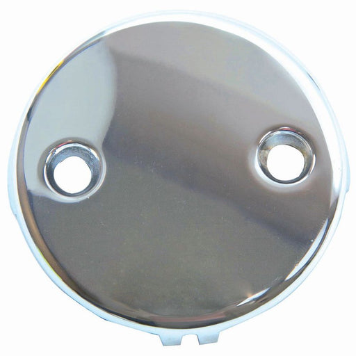 Chrome-Plated Overflow Plate 2-Hole