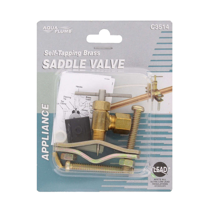 Self-Tapping Brass Saddle Valve