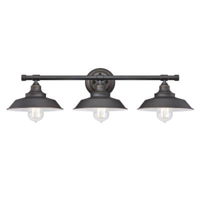 Iron Hill Three-Light Indoor Wall Fixture