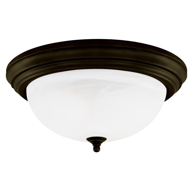 Three-Light Indoor Flush-Mount Ceiling Fixture