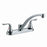 Two Handle Kitchen Faucet Satin Nickel Chrome Plated