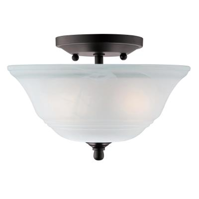 Wensley Two-Light Semi-Flush Ceiling Fixture