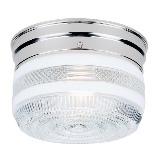 One-Light Indoor Flush-Mount Ceiling Fixture