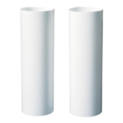 "Two White 4"" Candle Socket Covers"