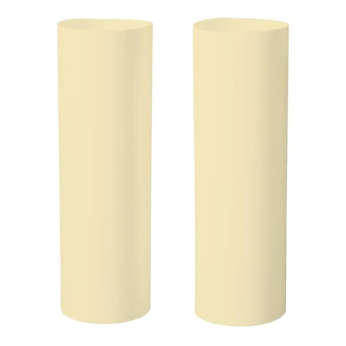 "Two Ivory 4"" Candle Socket Covers"