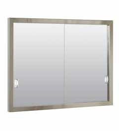 Stainless Steel Framed Medicine Cabinet with Sliding