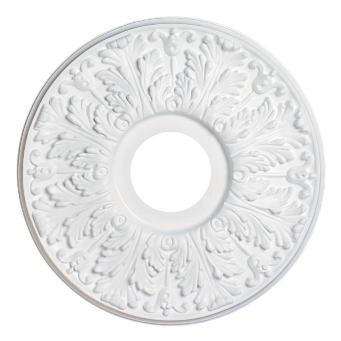 15-1/2-Inch Victorian Molded Plastic Ceiling Medallion