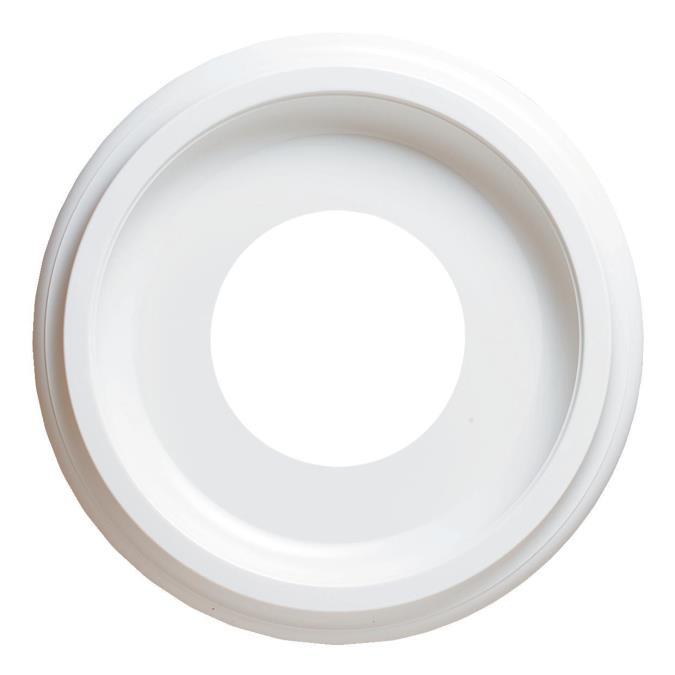 9-3/4-Inch Smooth Molded Plastic Ceiling Medallion