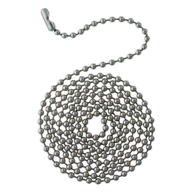 3' Stainless Steel Beaded Chain with Connector