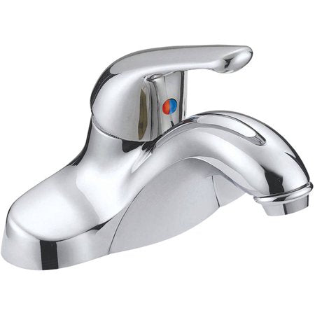 Chrome-Plated Single-Handle Bathroom Faucet