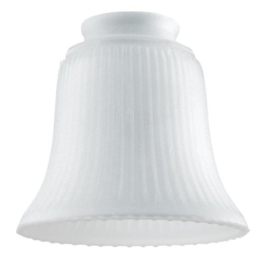 2-1/4-Inch Frosted Ribbed Glass Bell