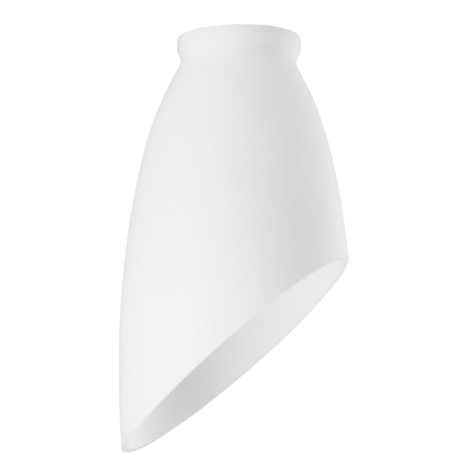 2-1/4-Inch White Glass Shade with Angled Design
