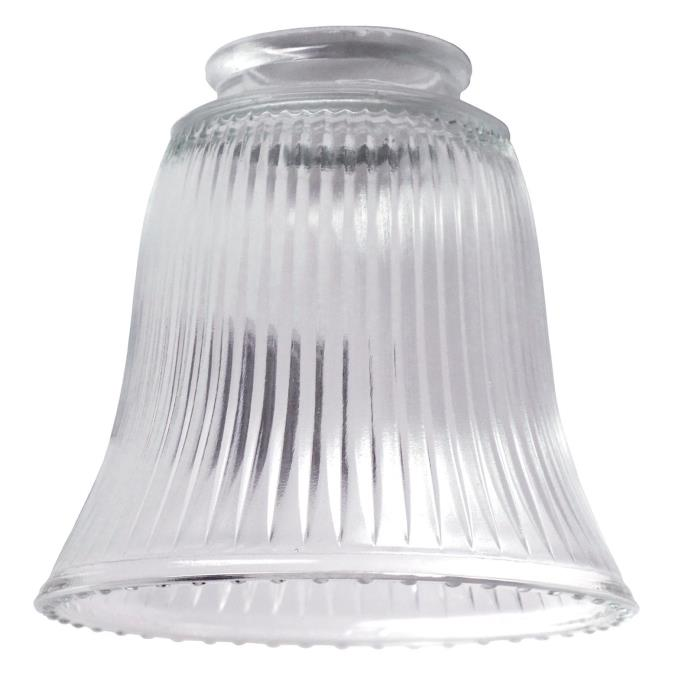 2-1/4-Inch Clear Ribbed Glass Bell