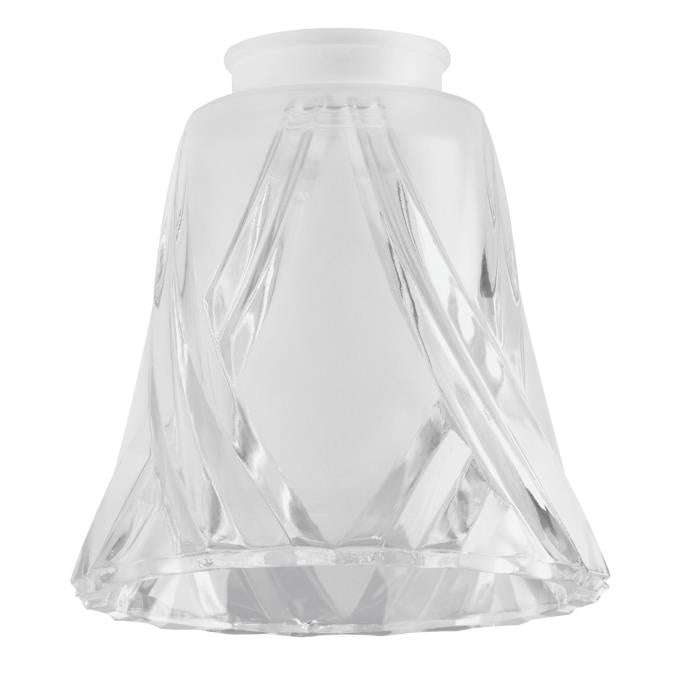 2-1/4-Inch Frosted and Clear Glass Shade